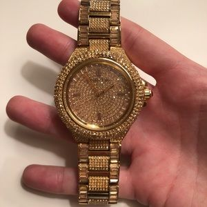MICHAEL KORS GOLD CAMILLE WATCH WITH CRYSTALS